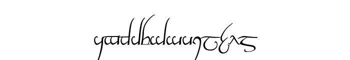 Tengwar Cursive Font LOWERCASE