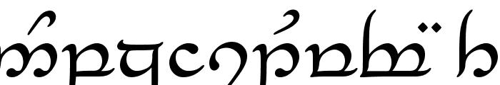 Tengwar_Eldanaro Font LOWERCASE