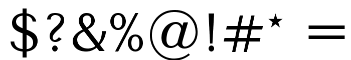 TenorSans Font OTHER CHARS