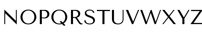 TenorSans Font UPPERCASE
