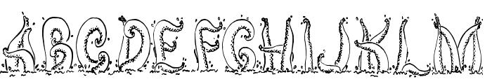 Tentacles Font UPPERCASE