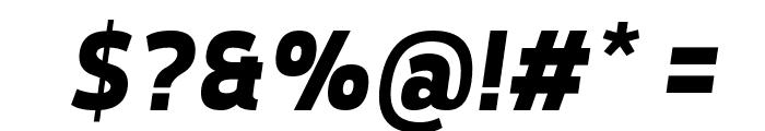 Tepeno Sans Bold Italic Font OTHER CHARS