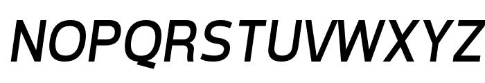 Tepeno Sans Italic Font UPPERCASE