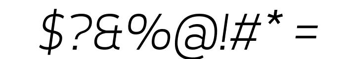 Tepeno Sans Light Italic Font OTHER CHARS
