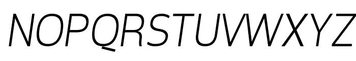 Tepeno Sans Light Italic Font UPPERCASE
