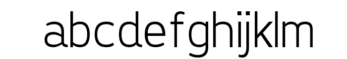 Tepeno Sans Light Regular Font LOWERCASE