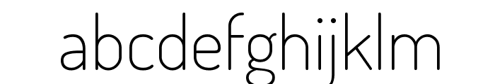 Terminal Dosis ExtraLight Font LOWERCASE