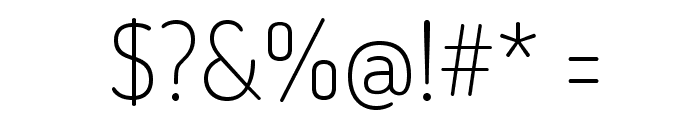TerminalDosis-ExtraLight Font OTHER CHARS
