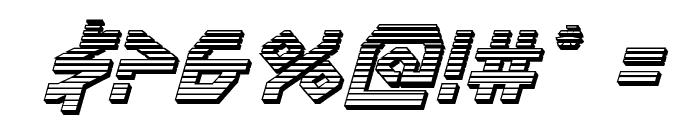 Terra Firma Chrome Italic Font OTHER CHARS