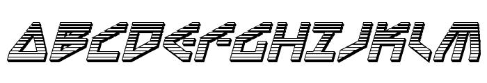 Terra Firma Chrome Italic Font UPPERCASE
