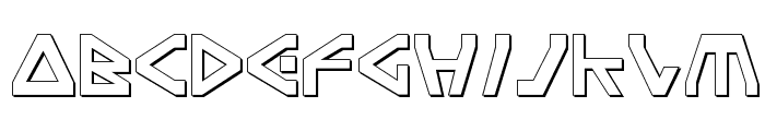 Terra Firma Shadow Font UPPERCASE