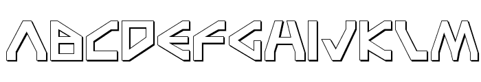 Terra Firma Shadow Font LOWERCASE
