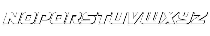Terran 3D Italic Font UPPERCASE