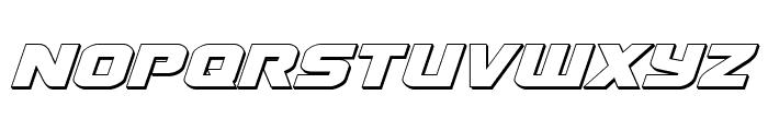 Terran 3D Italic Font LOWERCASE