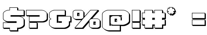 Terran 3D Regular Font OTHER CHARS
