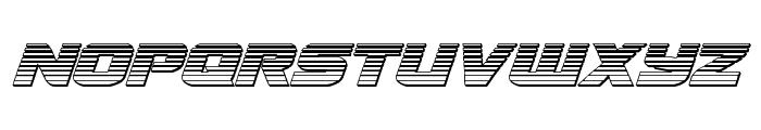 Terran Chrome Italic Font UPPERCASE