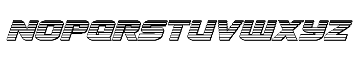 Terran Chrome Italic Font LOWERCASE