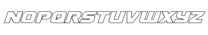 Terran Outline Italic Font UPPERCASE
