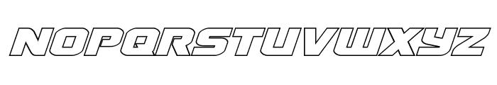 Terran Outline Italic Font LOWERCASE