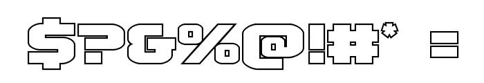 Terran Outline Regular Font OTHER CHARS