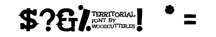 Territorial Font OTHER CHARS