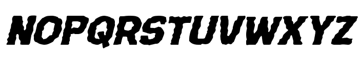 Terror Babble Expanded Italic Font UPPERCASE