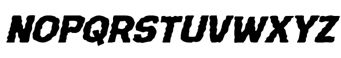 Terror Babble Expanded Italic Font LOWERCASE