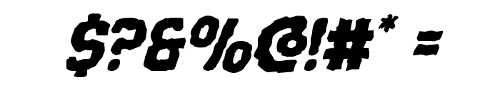 Terror Babble Italic Font OTHER CHARS