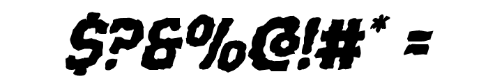 Terror Babble Mangled Italic Font OTHER CHARS