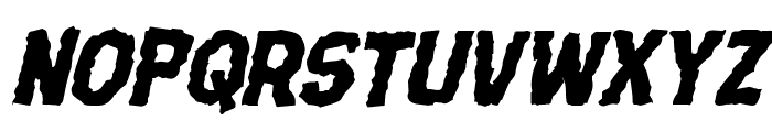 Terror Babble Mangled Italic Font UPPERCASE