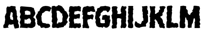 Terror Babble Mangled Font UPPERCASE