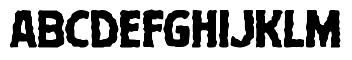 Terror Babble Staggered Font UPPERCASE