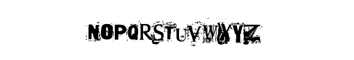Terror2005 Font UPPERCASE