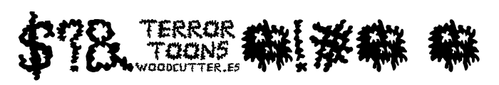 TerrorToons Font OTHER CHARS