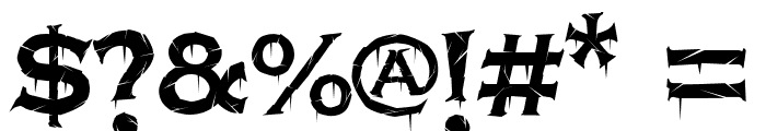 Terrorplate Font OTHER CHARS