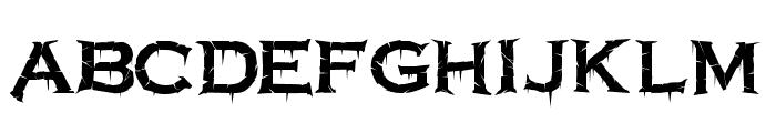 Terrorplate Font UPPERCASE