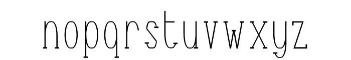 Terry Bruce Font LOWERCASE