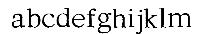 Testimonial Font LOWERCASE