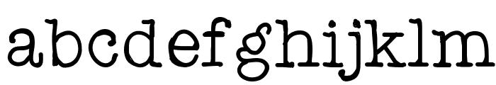 Testtype4 Font LOWERCASE