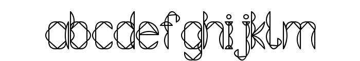 Tetraclericton Font LOWERCASE