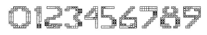 Tetris 2 Font OTHER CHARS