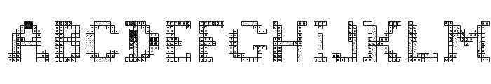 Tetris 2 Font UPPERCASE