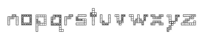 Tetris 2 Font LOWERCASE