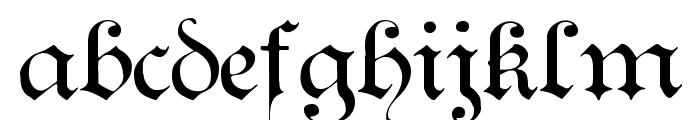 Teutonic No1 DemiBold Font LOWERCASE