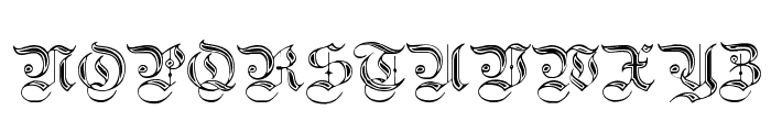 Teutonic No2 DemiBold Font UPPERCASE