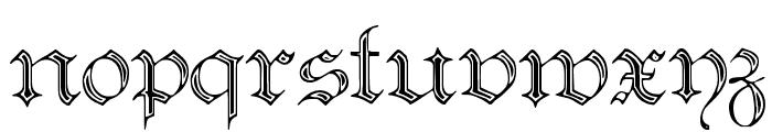 Teutonic No2 DemiBold Font LOWERCASE