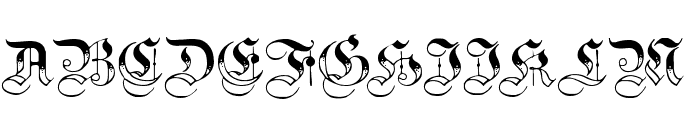 Teutonic No3 DemiBold Font UPPERCASE