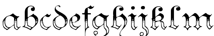 Teutonic No3 DemiBold Font LOWERCASE