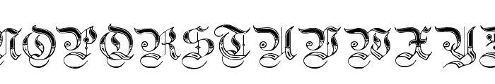 Teutonic No4 DemiBold Font UPPERCASE