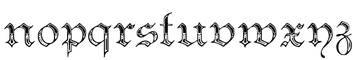 Teutonic No4 DemiBold Font LOWERCASE